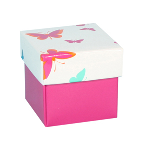 Pink butterfly box