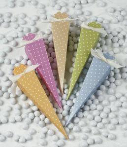 Polka dot cones