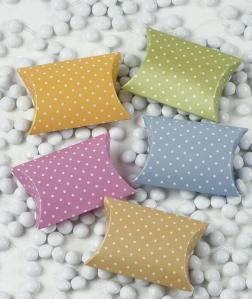 Polka dot pillow boxes