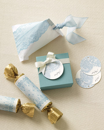 Old Fashioned Crepe Paper Wedding Cake Bags